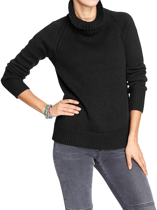 Women's Chunky-Knit Funnel-Neck Sweaters