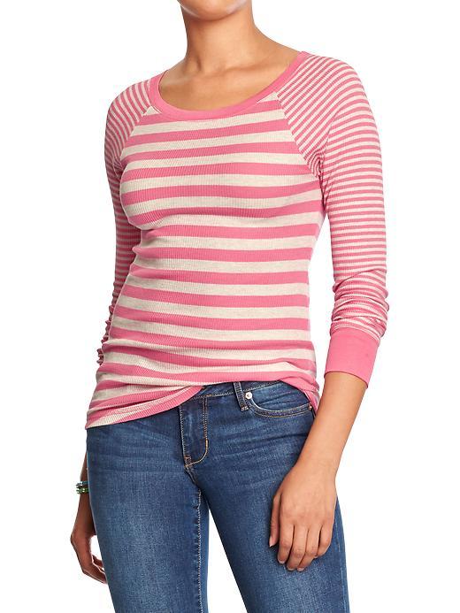 ¾- Pink Stripe Tee