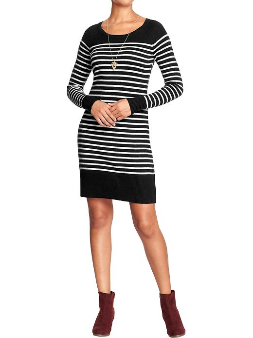Women's Striped Sweater Dress