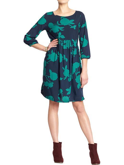 Women's Floral-Silhouette Dresses