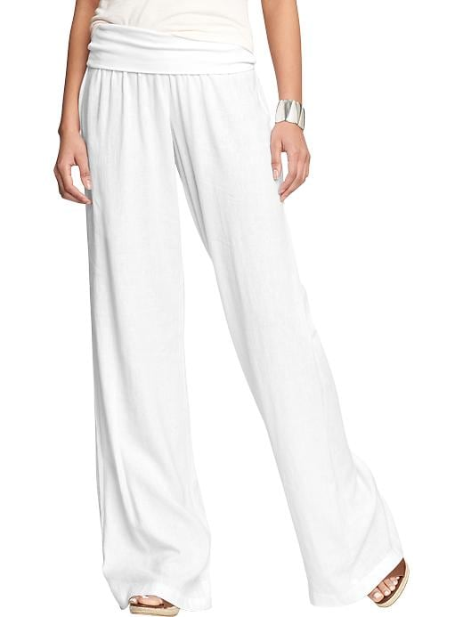 Linen-blend Pull-on Pants