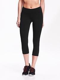 Mid-Rise Compression Crops for Women