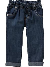 Lightweight Pull-On Jeans for Toddler Girls