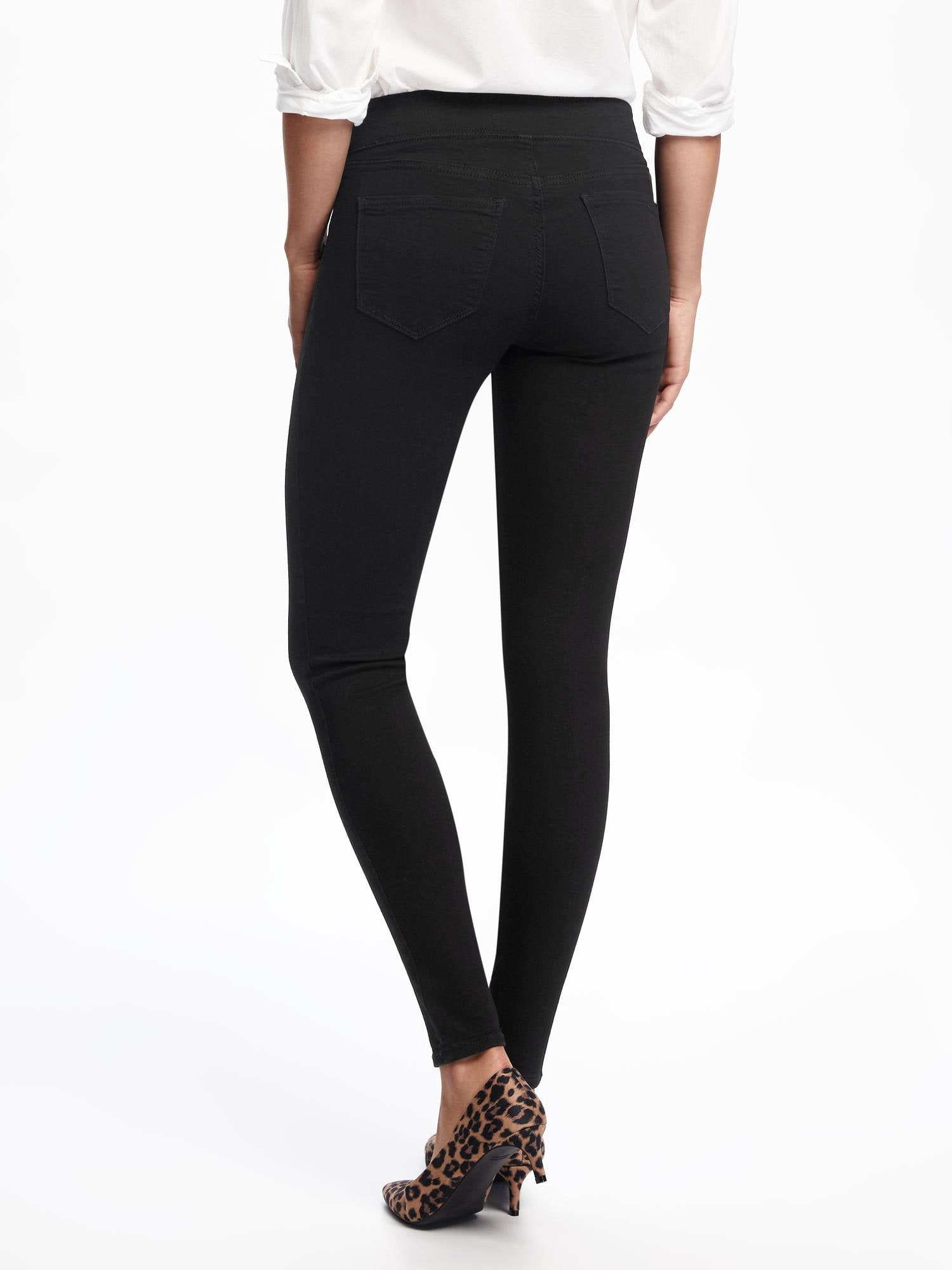 a00e65cb10b7a Mid-Rise Black Rockstar Jeggings for Women | Old Navy