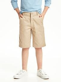 Flat-Front Uniform Shorts for Boys