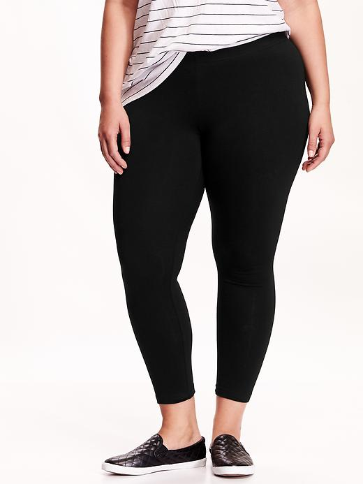 Shop Old Navy's High-Rise Mesh-Panel Leggings for Women: Elasticized waistband.,Flat-lock seams help reduce chafing.,Gusseted for ease of movement.,Mesh panels along leg for added breathability.,Superior Go-Dry moisture-wicking technology helps keep you comfortable and dry.,Smooth, moisture-wicking jersey is designed for peak active performance.