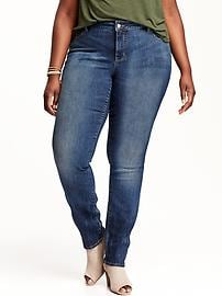 Smooth & Slim Mid-Rise Straight Plus-Size Jeans