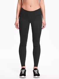 Mid-Rise Compression Leggings for Women