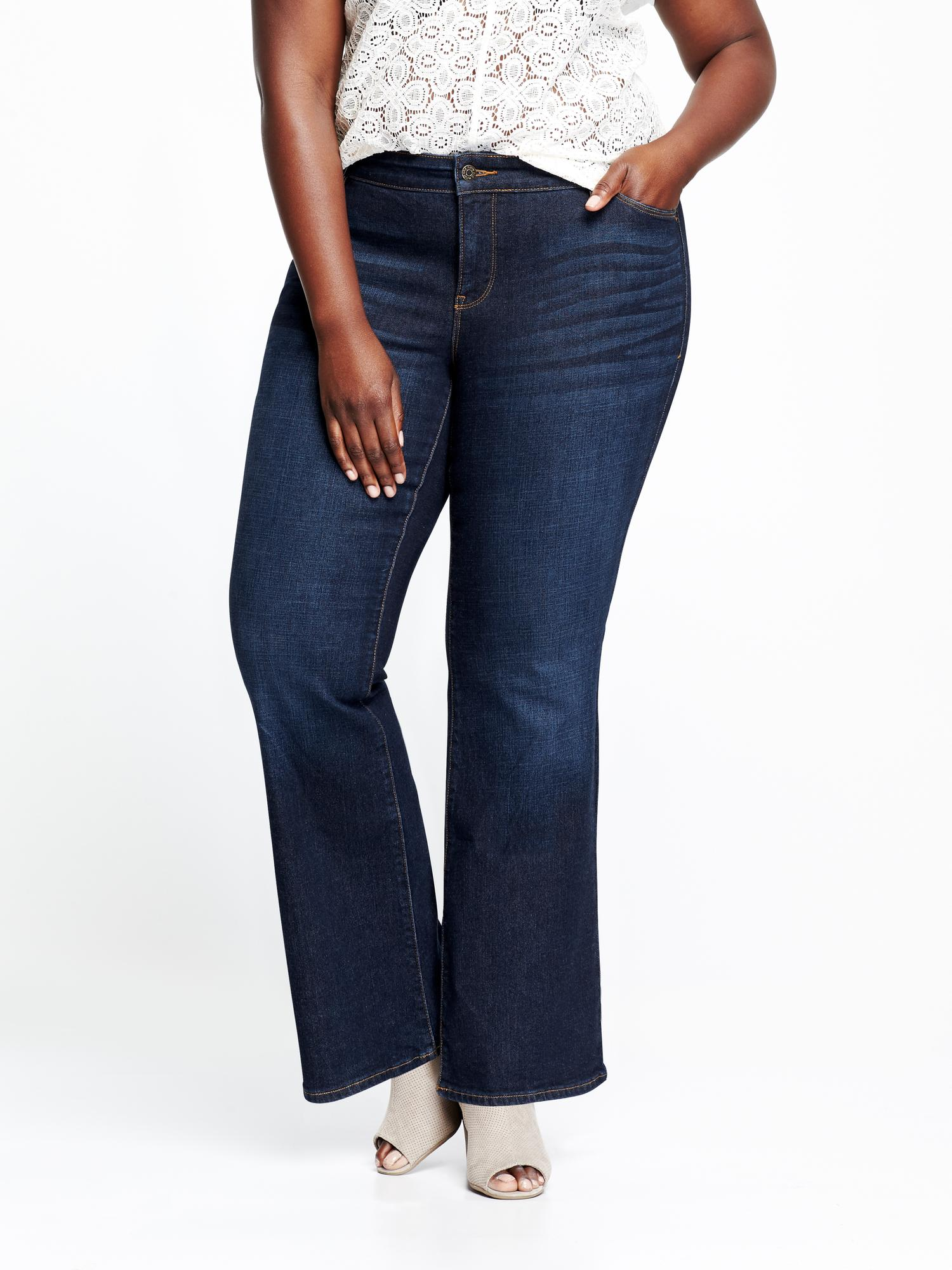 1aee434ae5638 Smooth   Slim Mid-Rise Plus-Size Boot-Cut Jeans