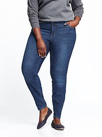 Mid-Rise Plus-Size Skinny Jeans