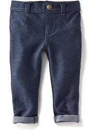 Rolled-Cuff Jeggings for Baby