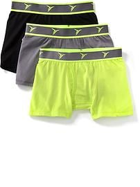Go-Dry Boxer Briefs  3-Pack for Boys