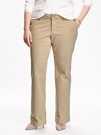 Smooth & Slim Mid-Rise Plus-Size Khakis