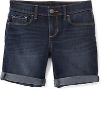 Short mi-long en denim pour fille