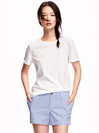 Relaxed Crew-Neck Tee for Women