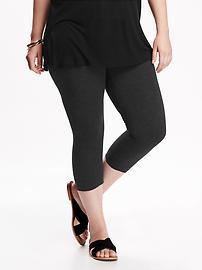 Jersey Plus-Size Capri Leggings
