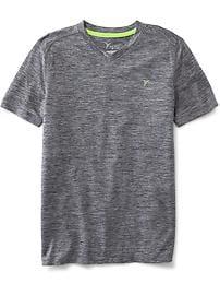 T-shirt Go-Dry à col enV pour garçon