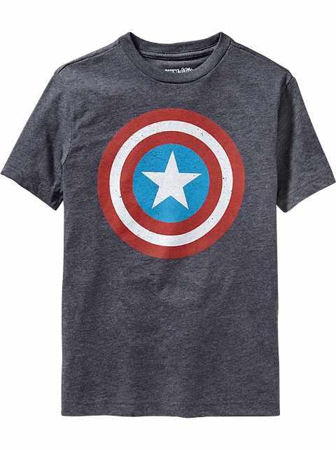 Boys Marvel Comics™ Captain America Tees