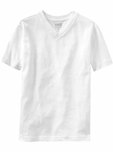 T-shirt à col enV classique pour garçon