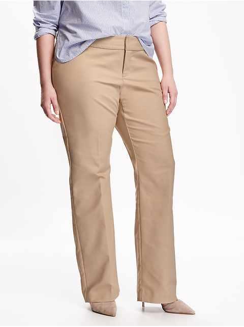 Smooth & Slim Plus-Size Wide-Leg Pants