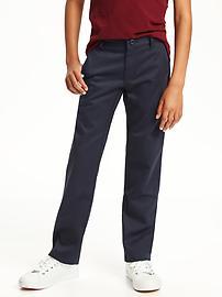 Kaki d'uniforme coupe étroite pour garçon