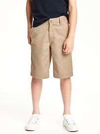 Stain-Resistant Uniform Shorts for Boys