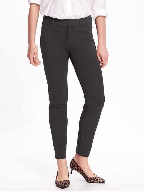 Mid-Rise Heathered Pixie Ankle Pants for Women