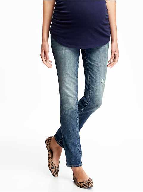 Maternity Full-Panel Skinny Jeans