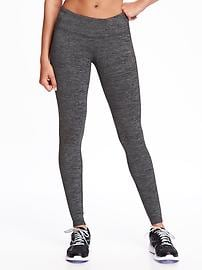 Mid-Rise Stripe-Melange Leggings for Women