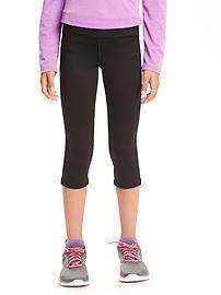Go Dry Shade Short Capri Leggings for Girls
