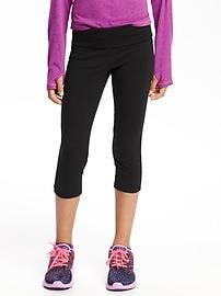 Cropped Yoga Leggings for Girls