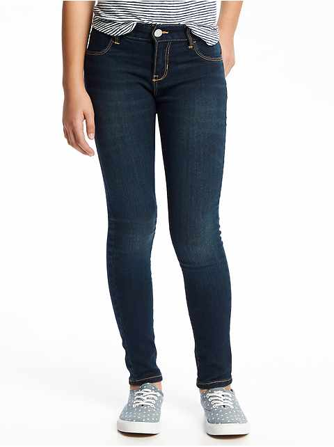 Mid-Rise Rockstar Built-In Tough Jeggings for Girls