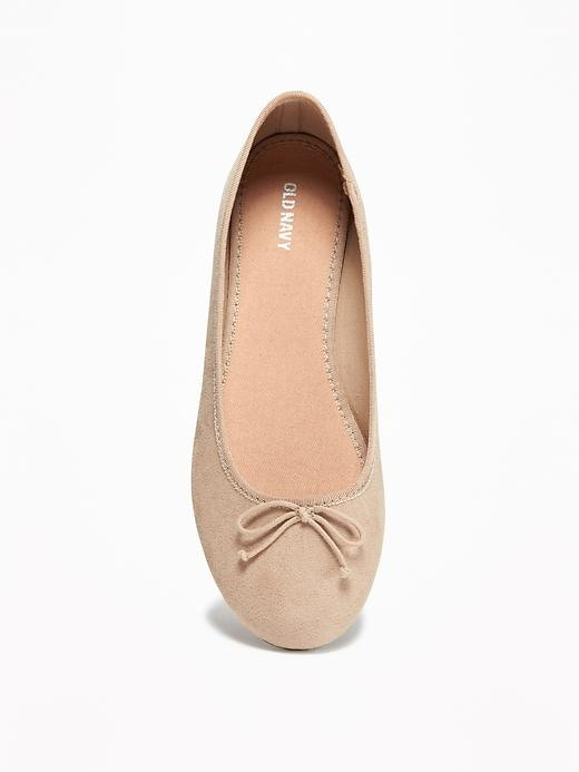Sueded Classic Ballet Flats for Women