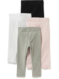 Lace-Trim Leggings 4-Pack for Toddler Girls