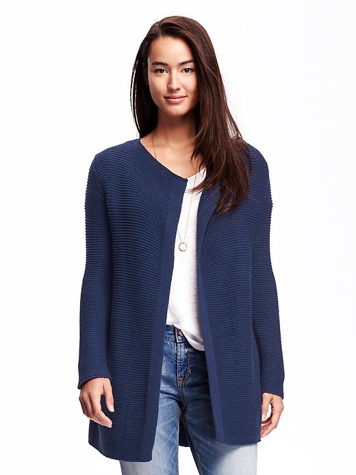 Old Navy Relaxed Open Front Textured Cardi For Women - Goodnight nora
