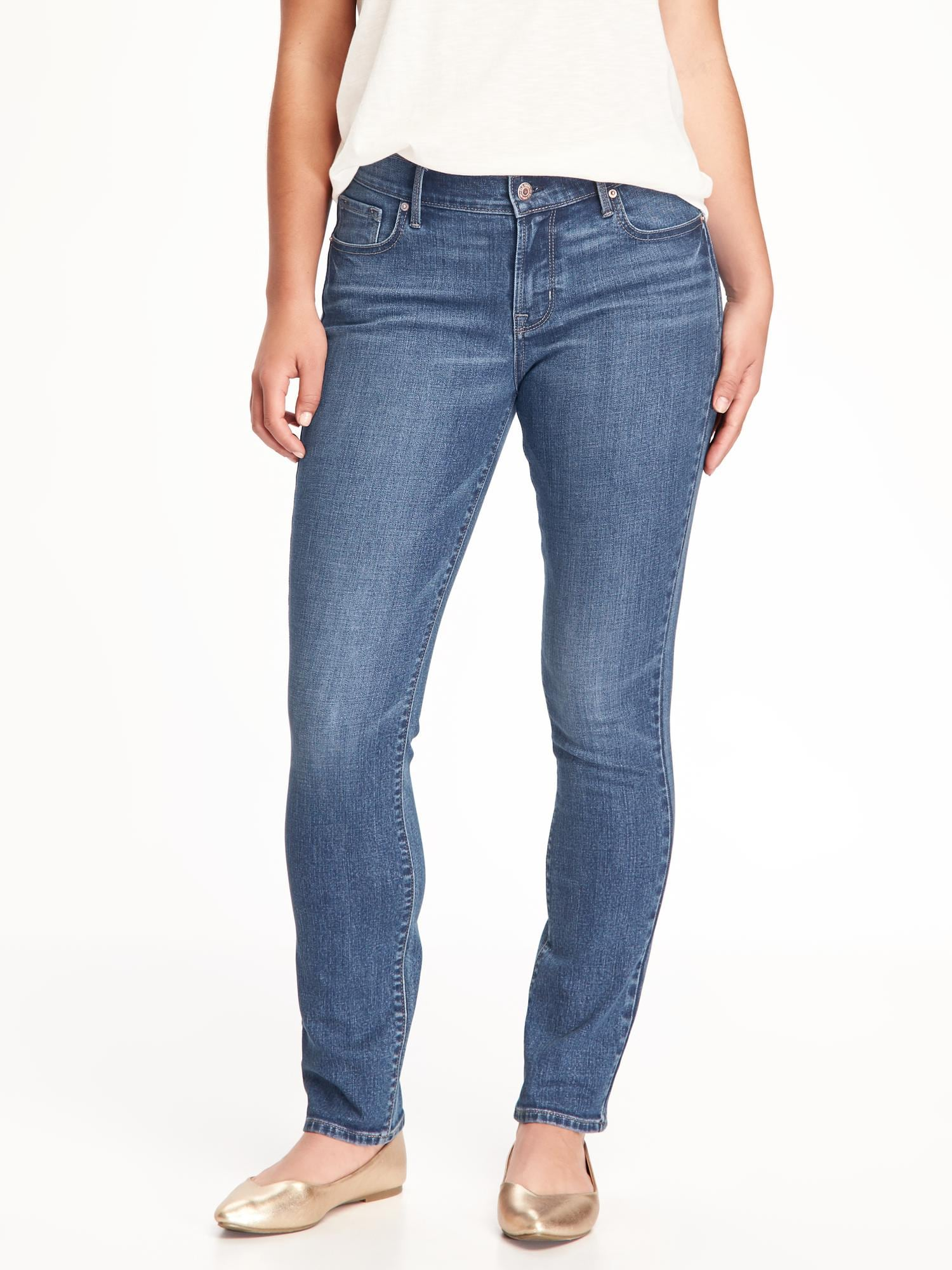 441b15fc66054 Mid-Rise Curvy Straight Jeans for Women