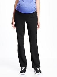 Maternity Roll-Panel Yoga Pants