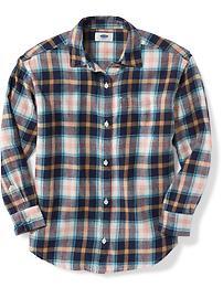 Plaid Flannel Boyfriend Shirt for Girls