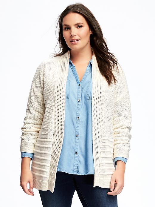 Old Navy Relaxed Mixed Texture Plus Size Cardi - Careless whisper
