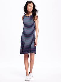 Multi-Stripe Swing Dress for Women