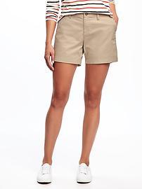 "Everyday Khaki Mid-Rise Shorts for Women (5"")"