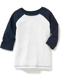 Raglan-Sleeve Baseball Tee for Toddler Boys