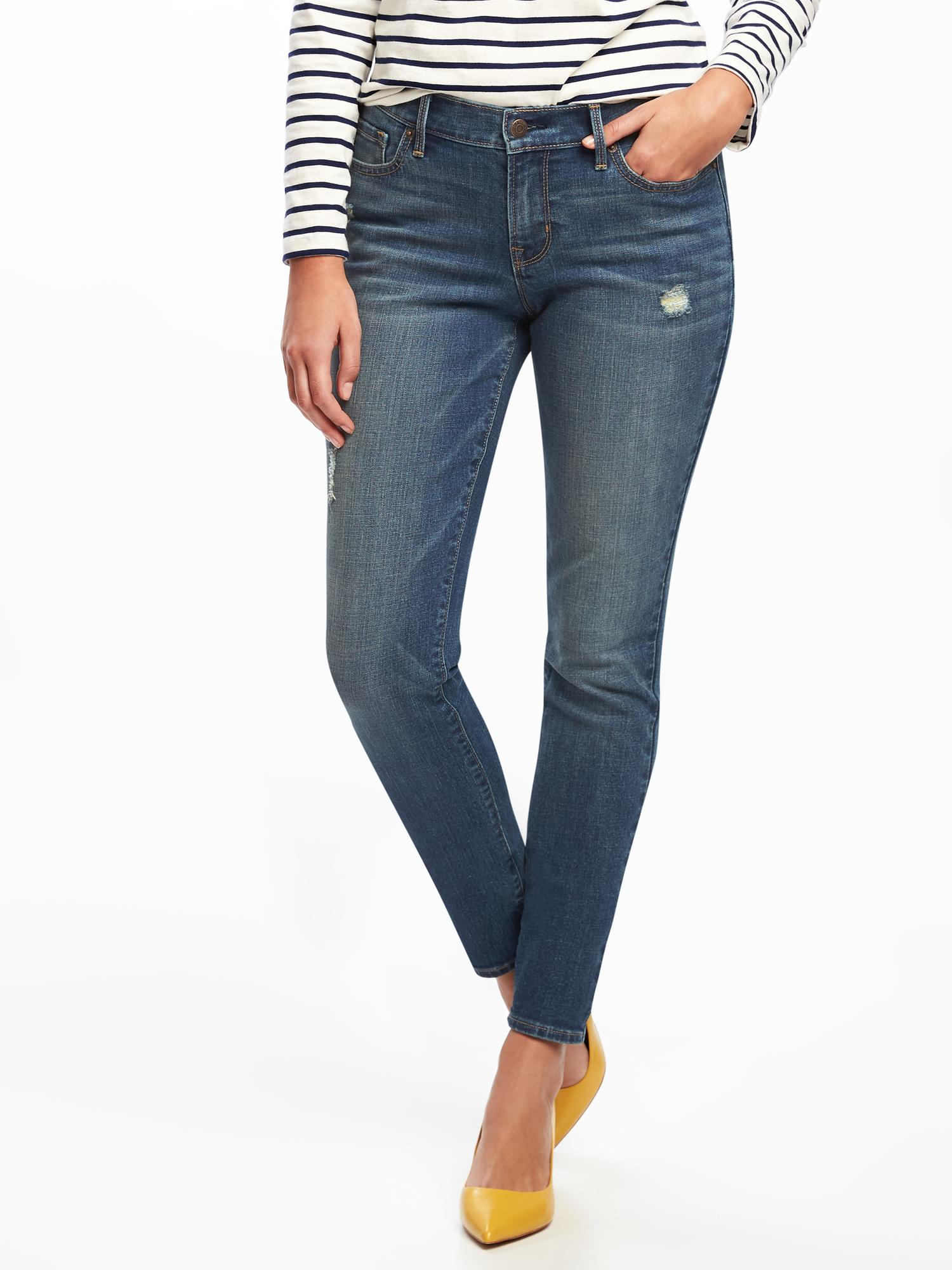 92481306aa9a Mid-Rise Curvy Skinny Jeans for Women