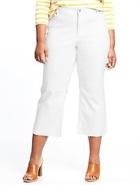 Plus-Size Clean-Slate Cropped Kick-Flare Jeans