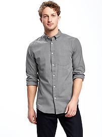 Chemise en popeline coupe standard pour homme
