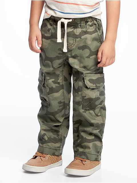 Pull-On Cargo Pants for Toddler Boys