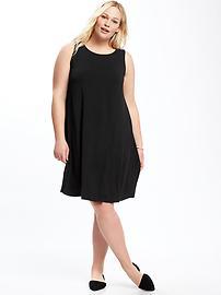 Jersey Plus-Size Swing Dress