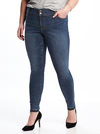 High-Rise Built-In Sculpt Plus-Size Rockstar Jeans