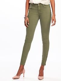 Mid-Rise Rockstar Pop-Color Skinny Jeans for Women