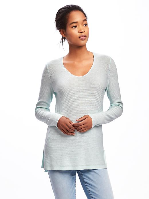 Old Navy Relaxed Textured Tunic Sweater For Women - Morning sky